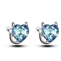 新款 水晶防过敏小猫咪精致可爱耳饰品耳环厂家批发-4811