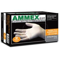 AMMEX爱马斯 无粉一次性乳胶手套