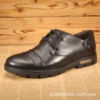 新款日常休闲皮鞋真皮男士休闲鞋 英伦时尚单鞋流行男鞋工厂贴牌