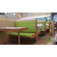现代板式卡座沙发 茶餐厅卡座餐桌定制厂家 批发