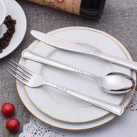 揭阳骏泰餐具 出口外贸 不锈钢餐具 高档不锈钢牛排刀叉勺24件套装 现货
