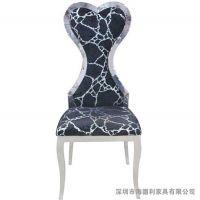 创意不锈钢火锅椅子 时尚蜘蛛网纹餐椅 奇味火锅椅厂家定做
