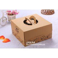 手提盒厂家供应 精美高档包装盒 12寸牛皮纸印刷西式蛋糕盒
