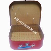 圣诞节外贸胶印 儿童烘焙用具手提箱 大号生日卡通盒 东莞手工盒
