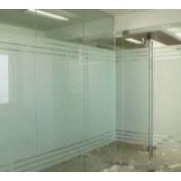 郑州办公室玻璃贴膜 山太克牌隐私磨砂膜刻字腰线制作logo