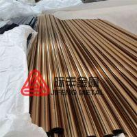304不锈钢黄钛金彩色管 钛金玫瑰金等彩色管材 真空镀色工艺加工订制
