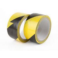 芜湖黄黑PVC警示胶带地面彩色划线斑马标识隔离警戒黑黄消防胶带458cm20Y
