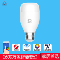 LINGAN智能led灯泡节能灯台灯e27螺口手机遥控随音乐变换颜色灯泡