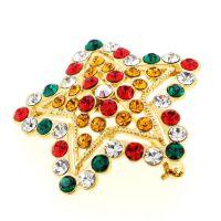 星星胸针 铜材质点钻胸针 多色彩钻饰品 时尚靓丽 义乌工厂制作