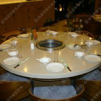 精品热卖 昆明火锅桌椅批发价格 时尚欧式火锅餐台 一人一锅火锅桌子