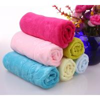 广东供应超细纤维纬编磨毛毛巾100g吸水印花毛巾