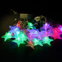 5.5米圆球五角星雪花LED灯串婚庆彩灯