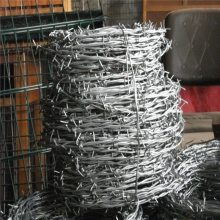 双股带刺铁丝 防爬盗刺网围墙 农场马场防护网