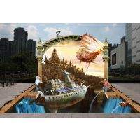 南京三维街头地画 专业订制城市立体画 城市三维立体画 3D地面贴画 3D壁画别墅装 街头3D画