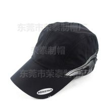 户外吸汗透气鸭舌帽棒球帽短沿帽 黑色时尚运动品牌太阳帽遮阳帽