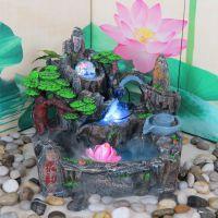 工艺品喷泉假山流水加湿器鱼缸盆景家居装饰品摆件风水轮招财摆设