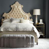 奢华欧式床 宫廷欧式布艺国王床 手工打造 工厂直销可定制