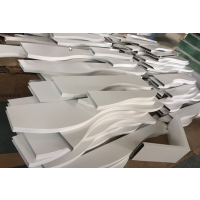 造型弧形铝方通装饰天花吊顶@特殊造型铝方通厂家设计生产