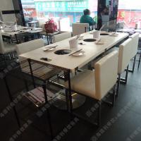 设计师上门测量定制 欧式大理石火锅桌 火锅店拼接式餐台 美观大方