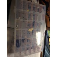 电子IC芯片盒芜湖贴片盒 可拆分元件盒 翻盖式零件盒 工具存放盒箱格 可拆卸收纳盒