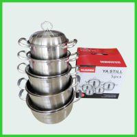 桂佳盛不锈钢五件套复底汤锅礼品套装锅欧式汤锅加厚炊具