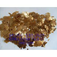 供应1-3公分天然金色云母片