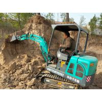 特价批发小挖掘机 甘肃天水小沟机 供应山鼎液压式小挖土机