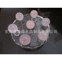 天然水晶球 七星阵摆件 水晶工艺品 粉晶七星阵摆件 水晶摆件批发