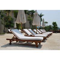 海南实木沙滩椅,星级酒店躺椅,海边时尚沙滩椅