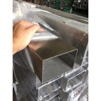 东莞塘厦304不锈钢扁管50*10*1.4,拉丝不锈钢矩形管黄钛金