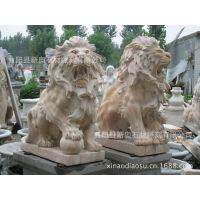 石雕动物 汉白玉狮子天安门 欧式爬狮