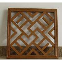 定制古建筑装饰铝窗花厂家|木纹铝窗花款式选择定做
