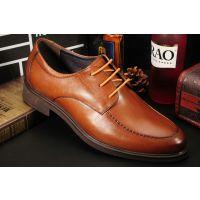 新款四季男士商务正装休闲皮鞋 真皮英伦系带男鞋高端品牌皮鞋