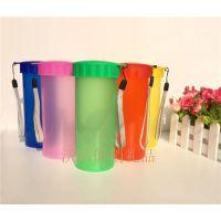 广州厂家供应广告塑料杯乐扣杯双层杯