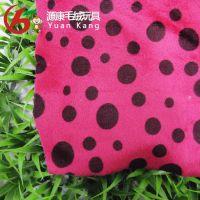东莞厂家供应 玫瑰色全棉印花布 水浆圆点印花 全棉平布印花