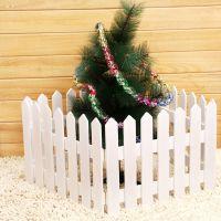 圣诞节装饰 场景布置 围栏 欧式栅栏 白色栅栏 气氛装饰