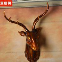 欧式动物头鹿头壁挂创意***家居装饰品店铺开业装修招财风水鹿头