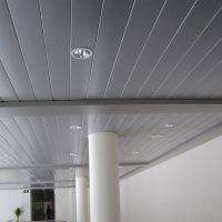C型条扣板铝天花厂家|商场条形密拼铝扣板天花