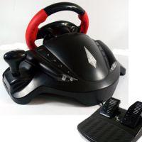 迪龙 PS3 PC三用方向盘 飞车 双震动 支持