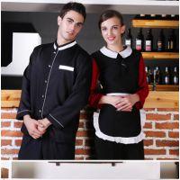 酒店工作服秋冬男女款 长袖高档餐厅中餐厅制服 厂家直销批发现货