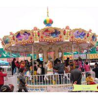 赶庙会的游乐园放一个转马生意 室内儿童游乐场转马怎么收费 藏龙游乐设备转马