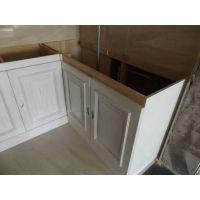 烟台瑞馨家具定做实木橱柜,欧式厨柜,整体石英石厨房橱柜定做