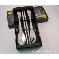 供应高档餐具礼品,商务礼品,精品快乐时光勺叉筷三件套