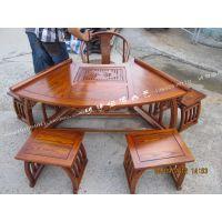 茶桌实木仿古榆木中式 明清家具多功能功夫电磁炉茶桌茶台 特价