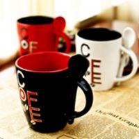 马克杯 创意杯 卡通马克杯 白色陶瓷 杯子定制批发