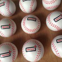 兴宏发定制Pu发泡棒球 63MM.70MM等多尺寸喷线印刷LOGO玩具球 环保发泡球