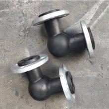 江苏泵出口橡胶减震器DN100 90°耐海水橡胶弯头【润宏牌】