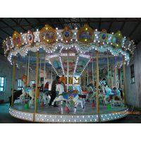 大型简易旋转木马 儿童玩具游乐设备转马 户外广场公园超豪华转马厂家