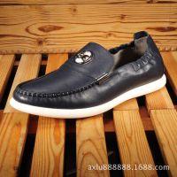 厂家直销头层真皮休闲男鞋品牌皮鞋时尚潮鞋批发男皮鞋 平底单鞋