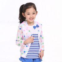 中大童韩版外贸童装夏季新款 女童糖果色波点防晒衣儿童外套z1
